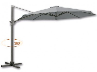 Зонт Borneo 350 см серый
