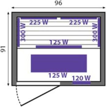 Інфрачервона сауна Corinna - схема