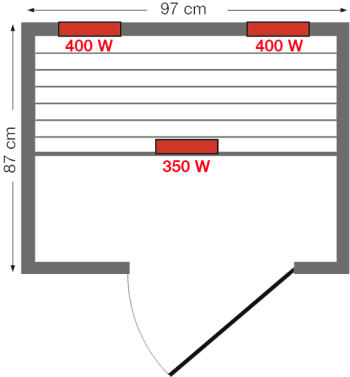 Инфракрасная сауна Mariana - схема
